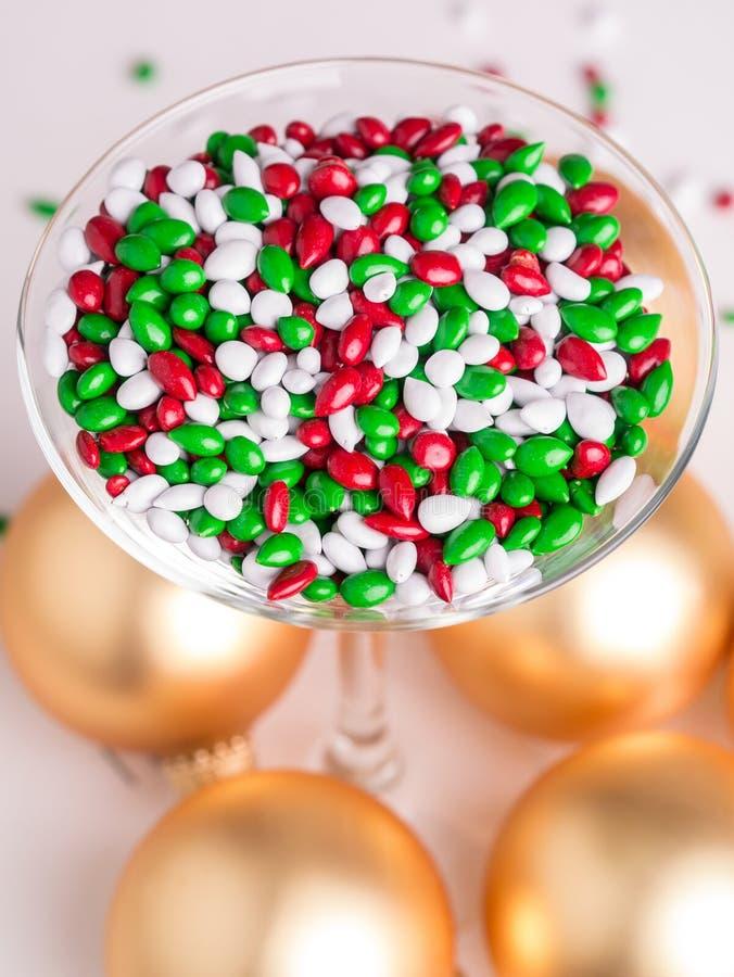 Het Buffet van het Suikergoed van Kerstmis stock fotografie