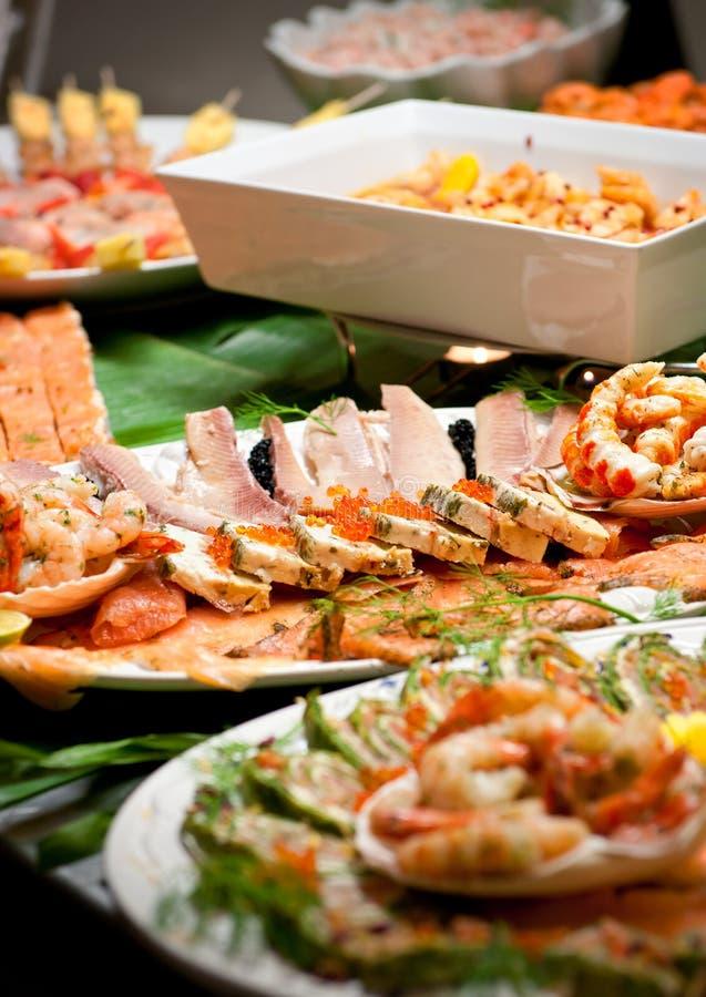 Het buffet van het voedsel stock afbeeldingen