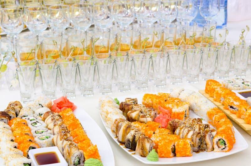 Het buffet van sushi royalty-vrije stock foto's