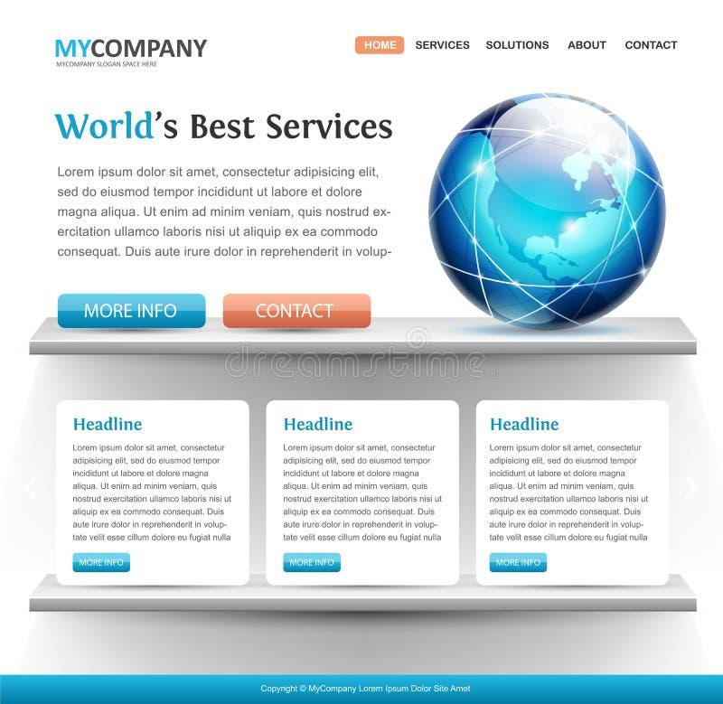 Het buitengewone malplaatje van het websiteontwerp vector illustratie
