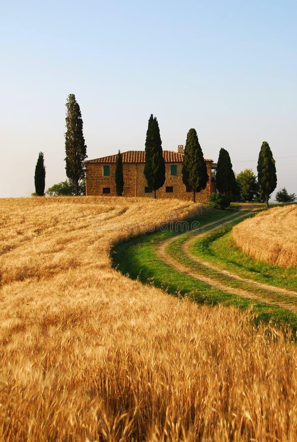 Het Buitenhuis van Toscanië stock afbeelding