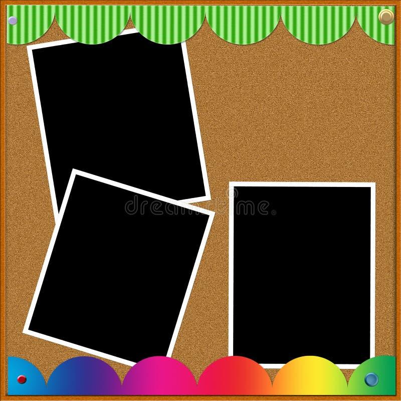 Het Bulletin van de foto vector illustratie