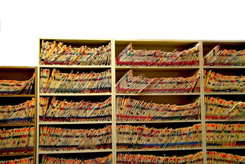 Het bureau van de arts stock afbeeldingen