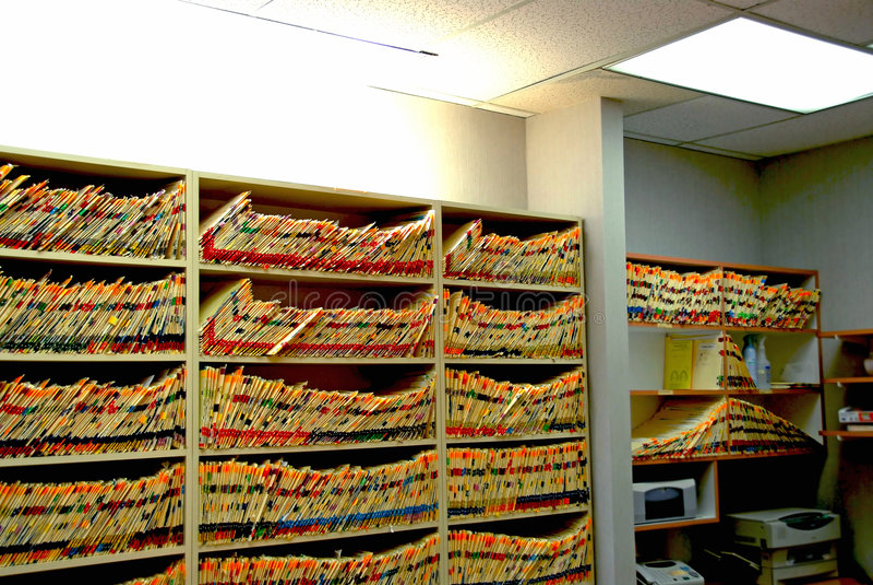 Het bureau van de arts royalty-vrije stock foto