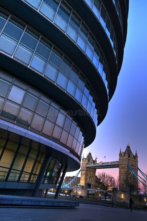 Het bureau van de futuristische Burgemeester van Londen stock afbeelding