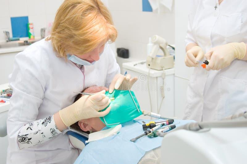 Het bureau van de tandarts royalty-vrije stock foto's
