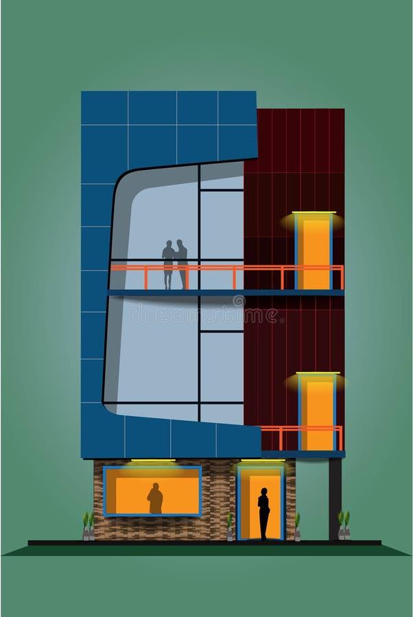 Het bureau van het droomhuis en het rijtjeshuis vector illustratie