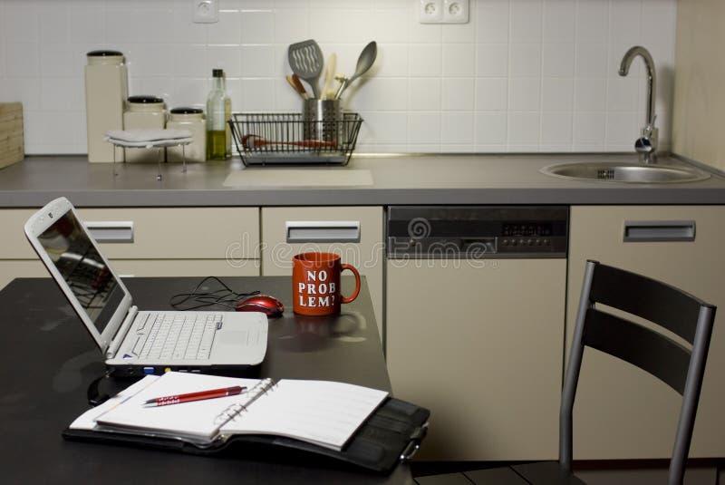 Het bureau van het huis stock foto