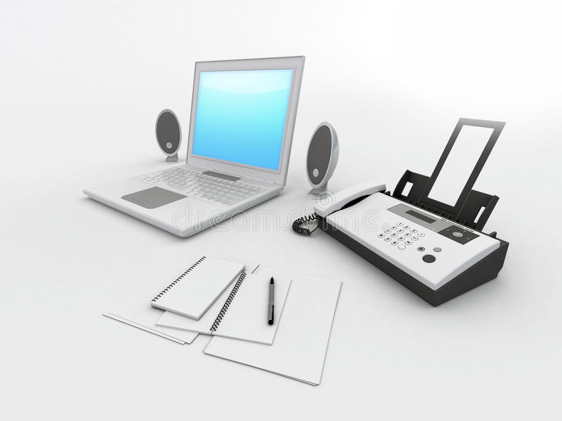 Het bureau van het notitieboekje stock illustratie