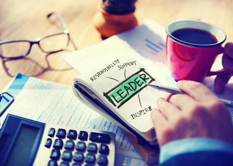 Het Bureau van leidersdirector business management het Werk Concept stock afbeeldingen