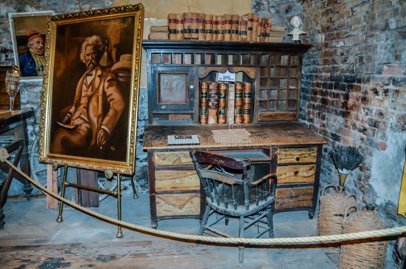 Het Bureau van Mark Twain ` s - Mark Twain Museum - Territoriale Onderneming - royalty-vrije stock afbeelding