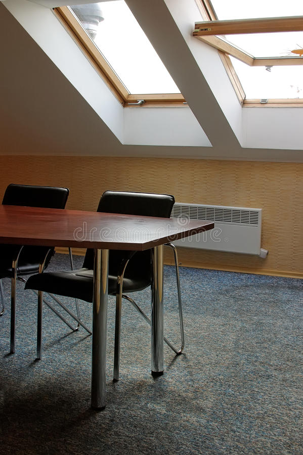 Het bureau van Soho op zolderkamer royalty-vrije stock foto