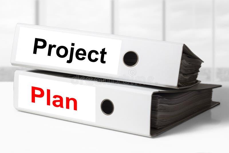 Het Bureaubindmiddelen Van Het Projectplan Stock Foto   Afbeelding