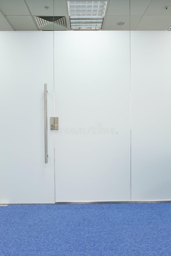 Het bureaudeur van het glas stock fotografie