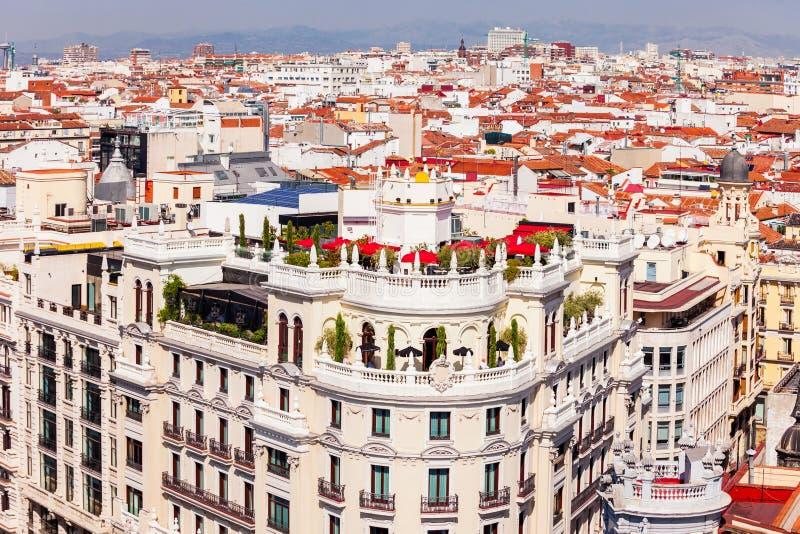 Het het Bureaugebouw van de Metropool in Madrid, Spanje stock afbeeldingen