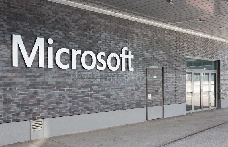 Het bureauingang van Microsoft Zwitserland stock fotografie