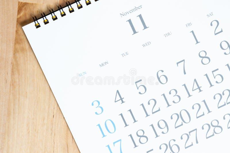 het bureaukalender van 2019 op de lijst stock foto