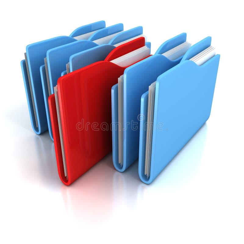 Het bureauomslagen van het document op witte achtergrond vector illustratie