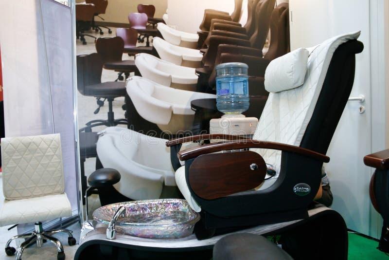 Het bureaustoel van de massage stock foto