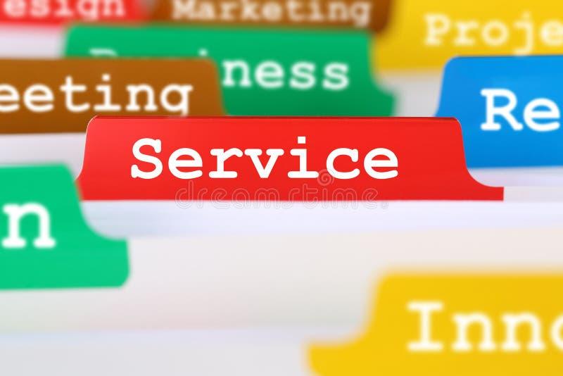 Het bureautekst van de de dienstkwaliteit op register in commercieel de dienstendoc. royalty-vrije stock afbeeldingen