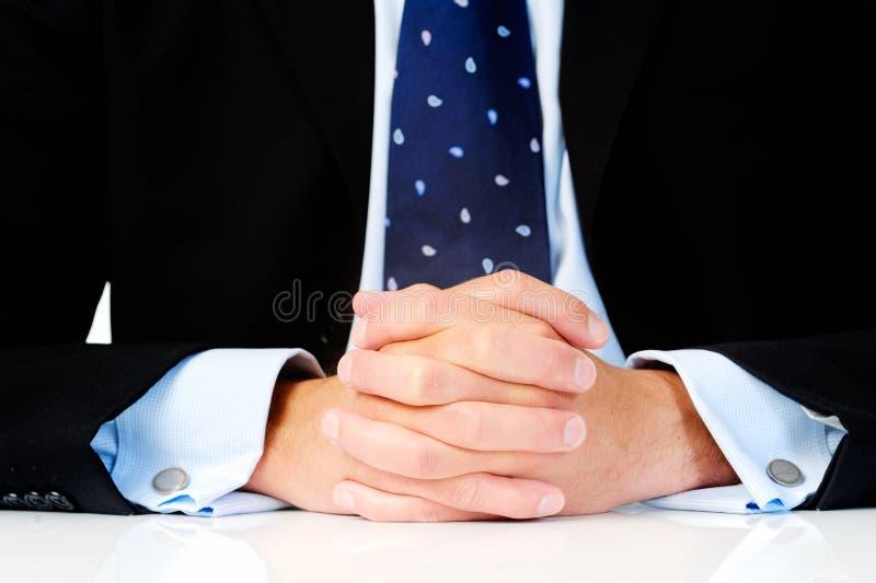 Het bureauzaken van handen stock afbeeldingen