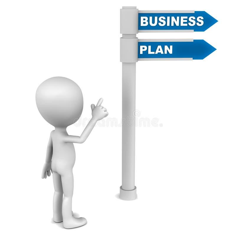 Het businessplan van  royalty-vrije illustratie