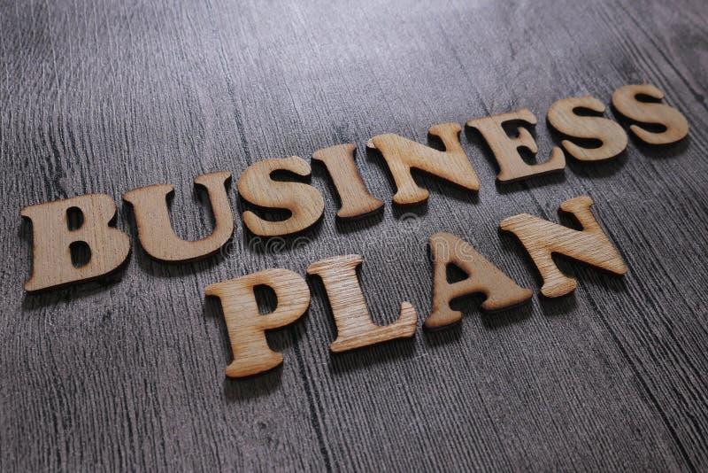 Het Businessplan van Het Concept van de woordentypografie stock fotografie