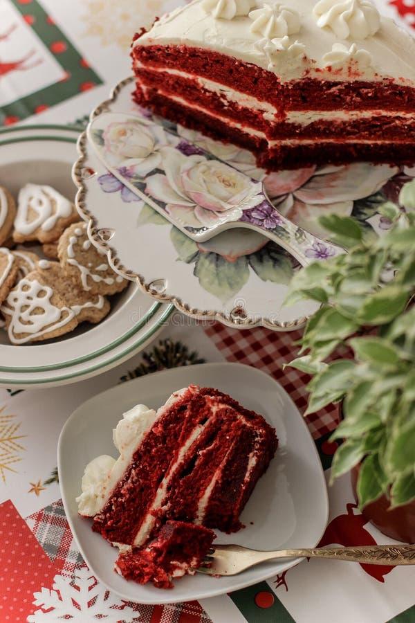 Het cake Rode Fluweel royalty-vrije stock foto's