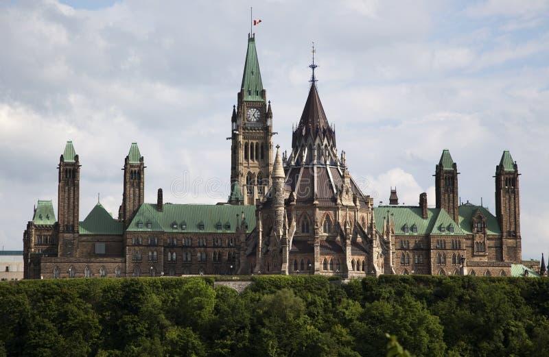 Het Canadese Parlement in Ottawa royalty-vrije stock foto's