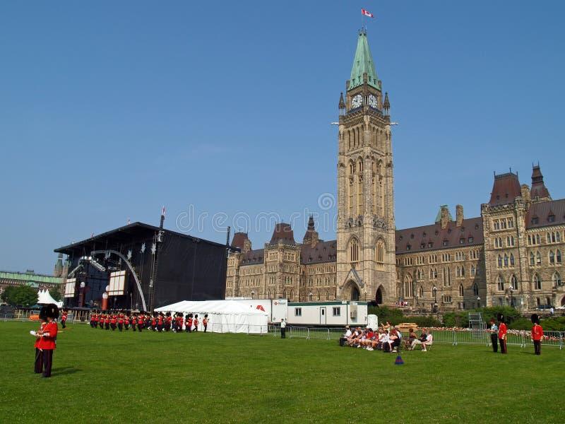 Het Canadese parlement in Ottawa stock foto