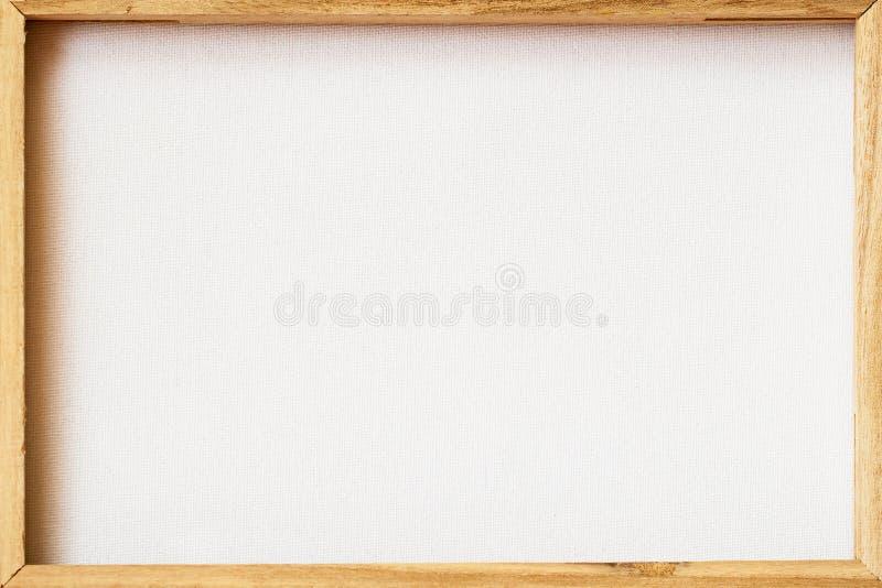 Het canvaskader kraste achterachterkant voor het ontworpen schilderen, beeld op houten brancard Abstracte achtergrond voor stock afbeeldingen