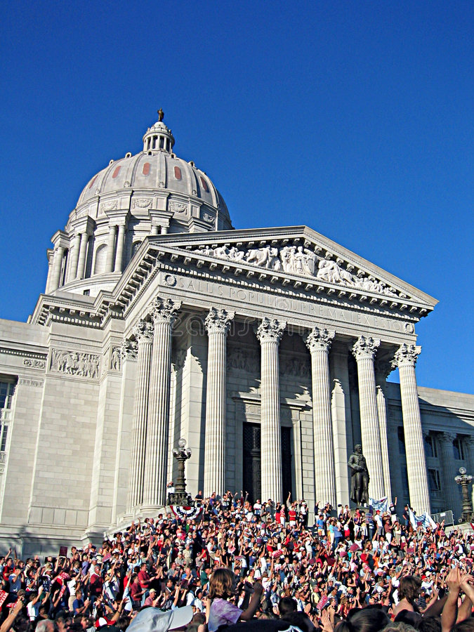 Het Capitool Buildin van de Staat van Missouri stock foto