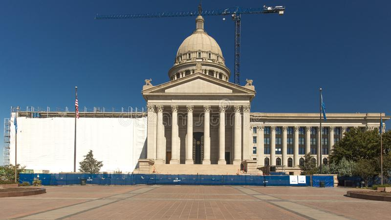 Het Capitool van de Staat van Oklahoma, O.K. Oklahoma City stock fotografie