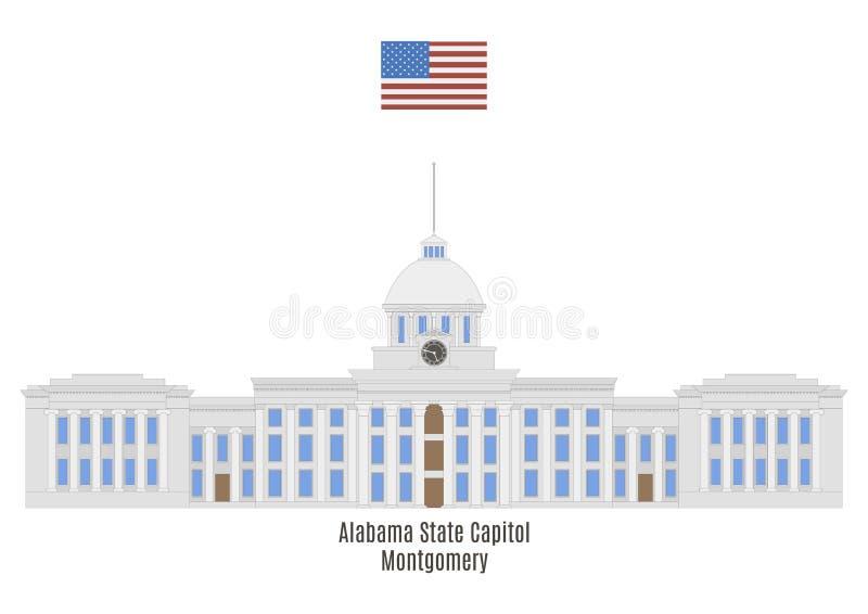 Het Capitool van de Staat van Alabama, Montgomery royalty-vrije illustratie