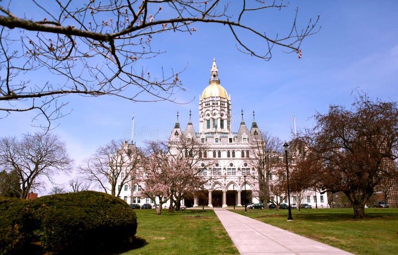 Het Capitool van de Staat van Connecticut, Hartford, Connecticut royalty-vrije stock afbeeldingen