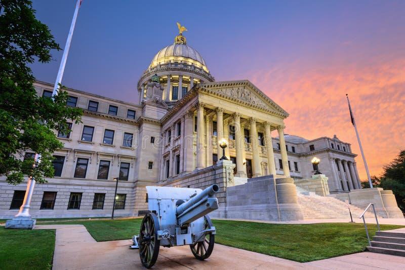 Het Capitool van de Staat van de Mississippi stock fotografie