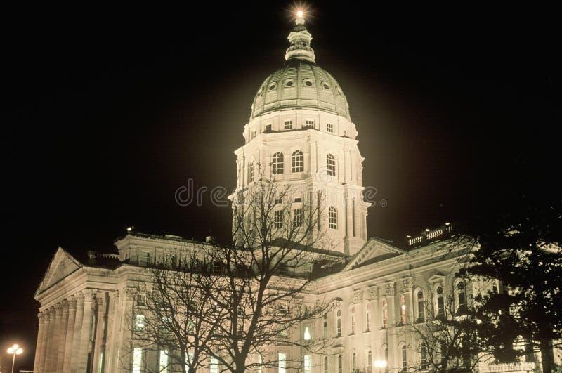 Het Capitool van de staat van Kansas, stock foto