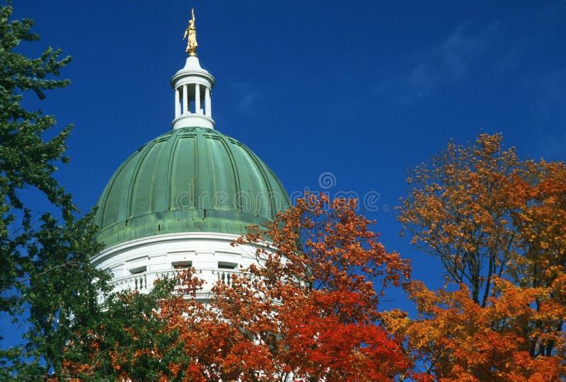 Het Capitool van de staat van Maine, royalty-vrije stock afbeelding