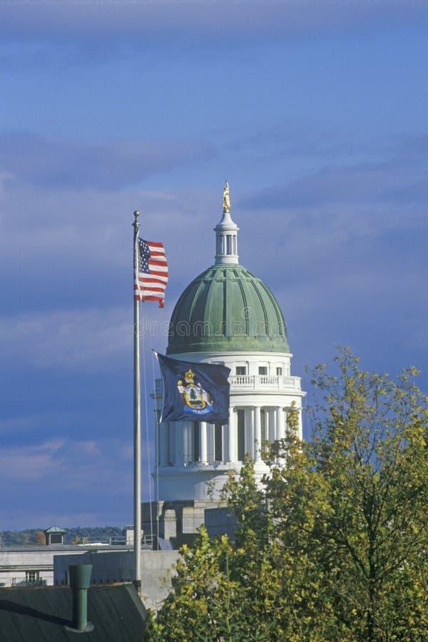 Het Capitool van de staat van Maine stock foto