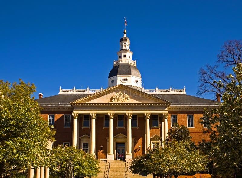 Het Capitool van de Staat van Maryland stock foto