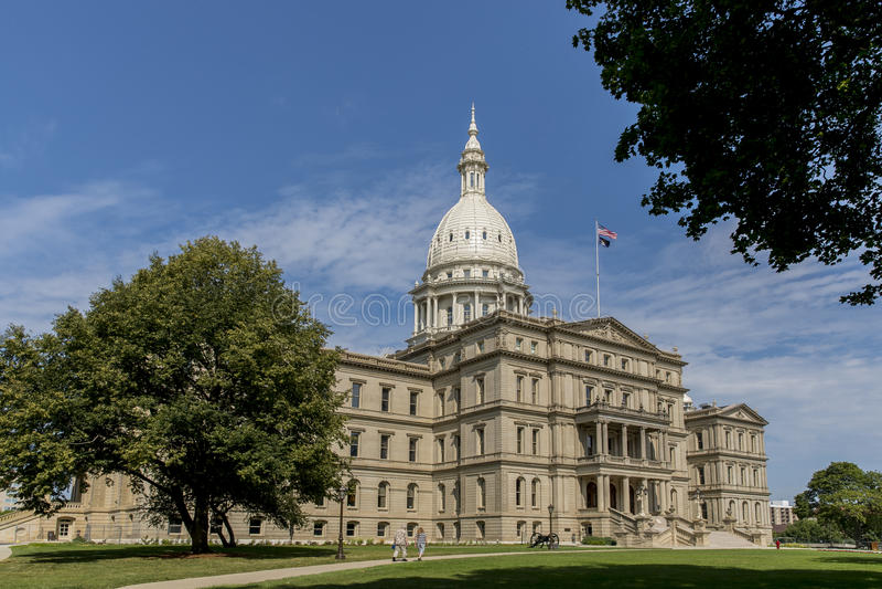 Het Capitool van de Staat van Michigan royalty-vrije stock foto's