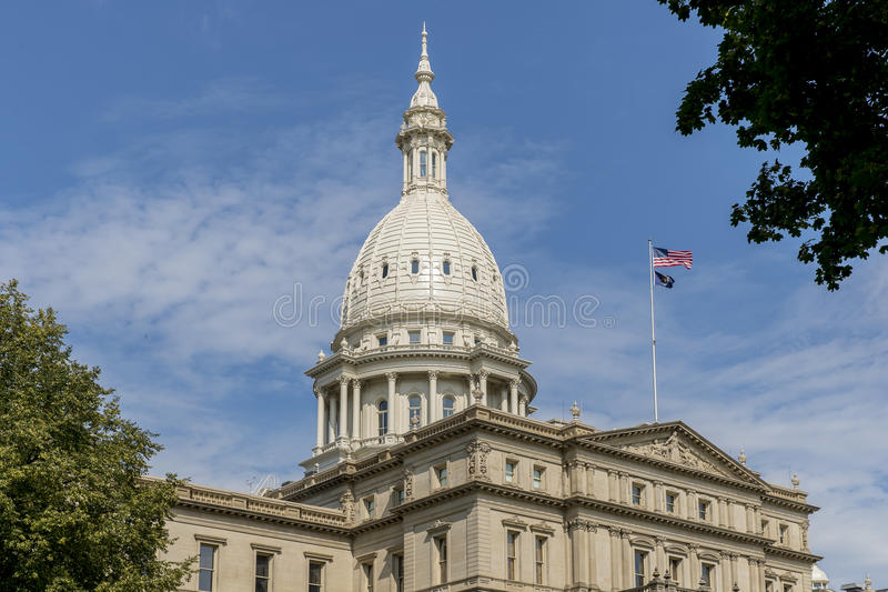 Het Capitool van de Staat van Michigan stock foto's