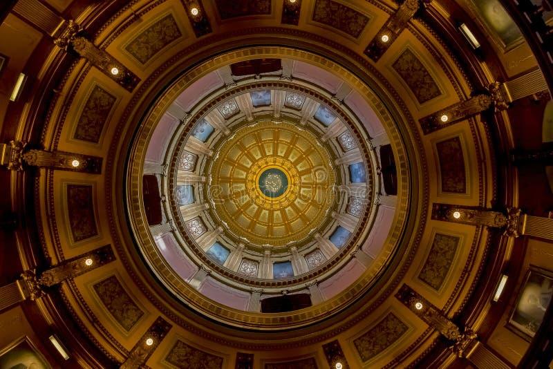 Het Capitool van de Staat van Michigan stock afbeelding
