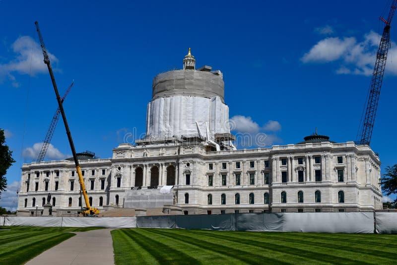 Het Capitool van de Staat van Minnesota royalty-vrije stock afbeelding