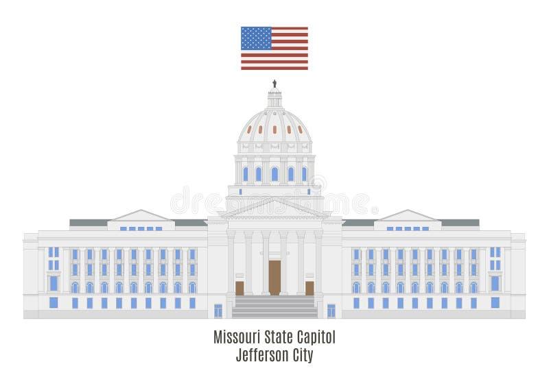 Het Capitool van de Staat van Missouri in Jefferson City royalty-vrije illustratie