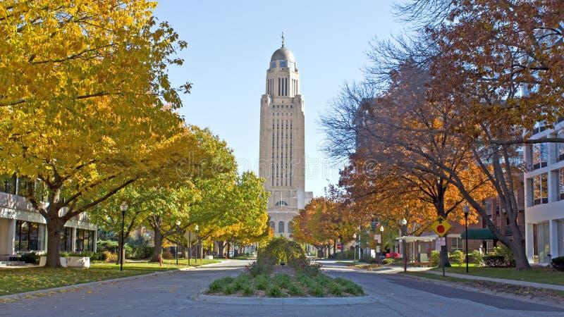 Het Capitool van de Staat van Nebraska stock foto's