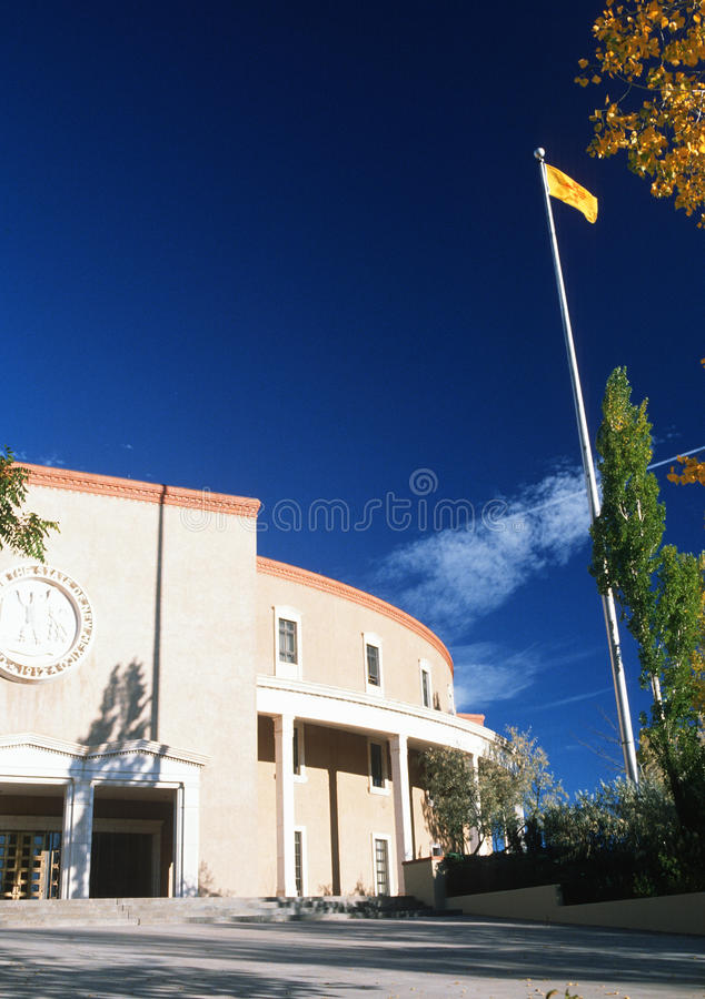Het Capitool van de staat van New Mexico, stock afbeelding