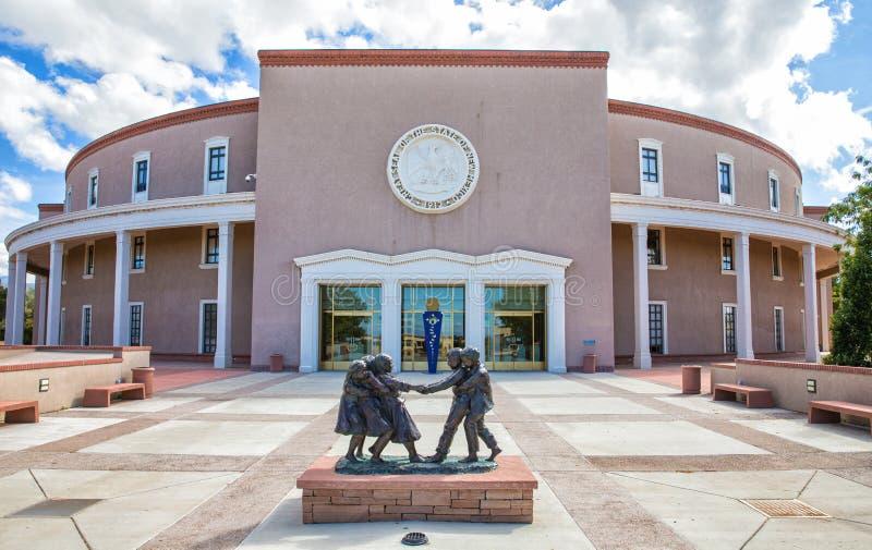 Het Capitool van de Staat van New Mexico stock fotografie