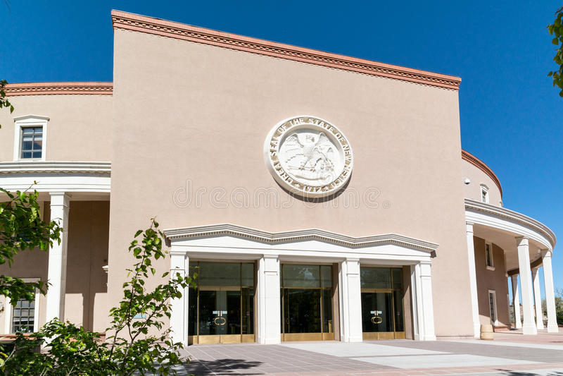 Het Capitool van de Staat van New Mexico, Santa Fe stock fotografie