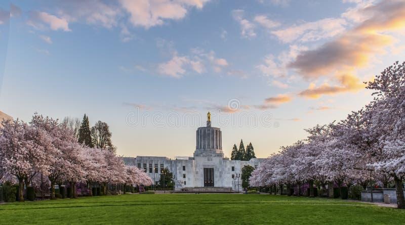 Het Capitool van de Staat van Oregon, Salem stock foto's